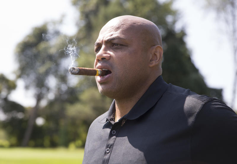 Was Charles Barkley blowing smoke when he said vegetarians don't exist? (Mitchell Leff via Getty Images)