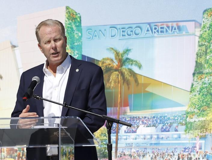 On Saturday morning at 10am in front of Pechanga Arena, San Diego Mayor Kevin Faulconer announced that the city is partnering with Brookfield Properties on an arena project that on approximately 48 acres in the Midway-Pacific Highway Community area which will redevelop the Sports Arena site into a new destination incorporating a mix of entertainment, housing, and parks.