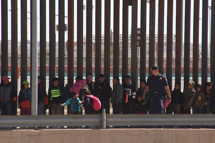 A scene from the border at Juarez, Mexico