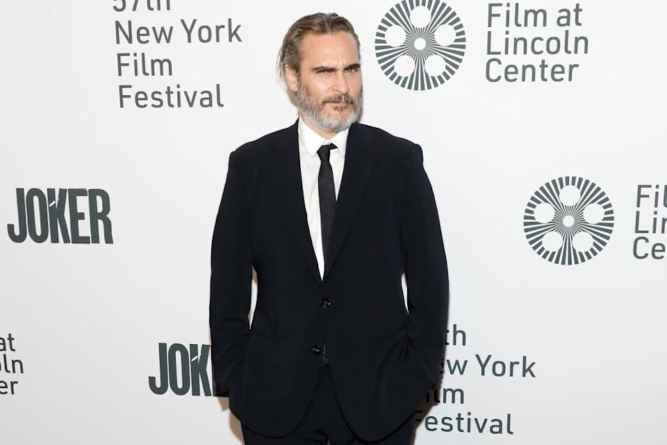 """NEW YORK, NEW YORK - OCTOBER 02: Joaquin Phoenix attends a New York screening of """"Joker"""" during the 57th annual New York Film Festival at Alice Tully Hall, Lincoln Center on October 02, 2019 in New York City. (Photo by Taylor Hill/FilmMagic)"""