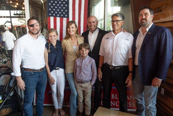 PHOTO: Jake Ellzey, center, campaigns for congress with other Texas Republican politicians.  (Jake Ellzey/Facebook)