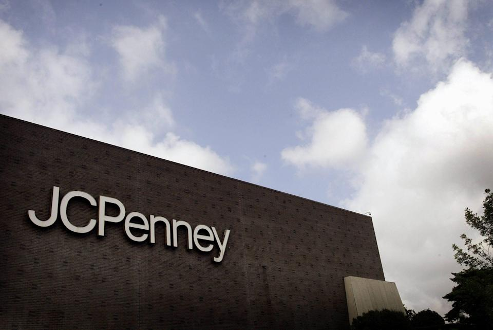 A sign marks the location of a J.C. Penney store in Riverside, Illinois, on Aug. 12, 2003.