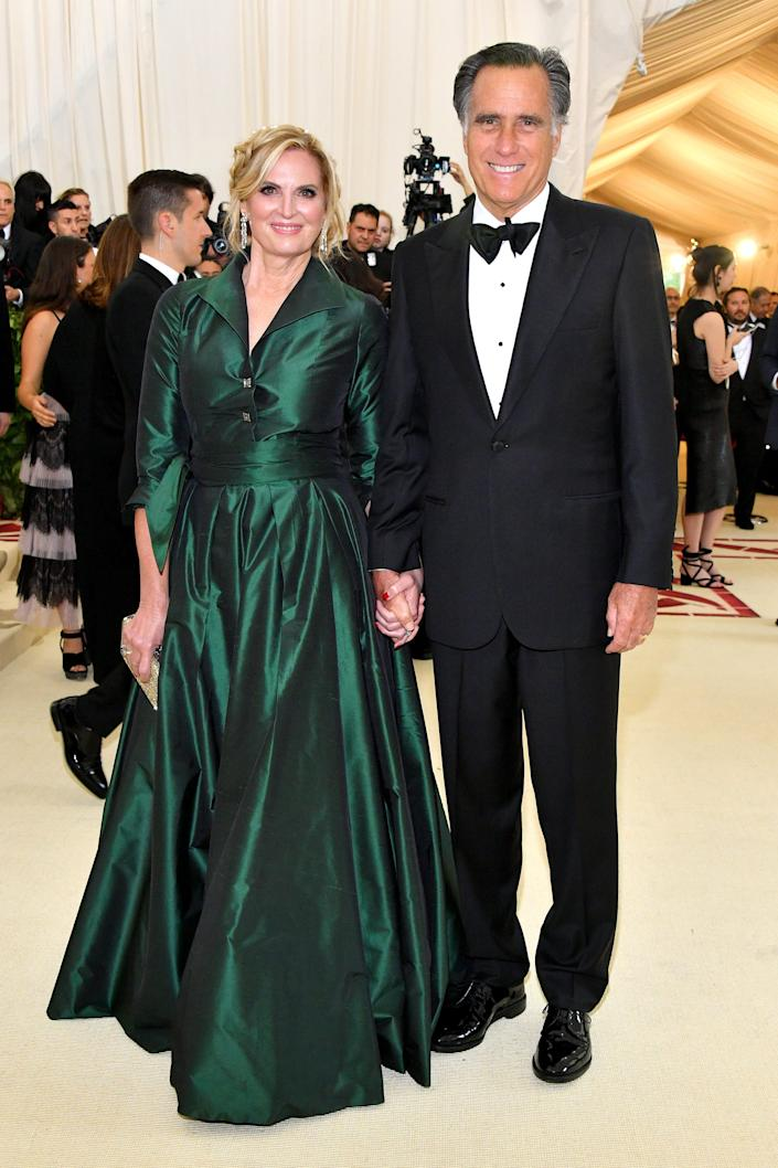 Mitt and Ann Romney attend the Met Gala in 2018.
