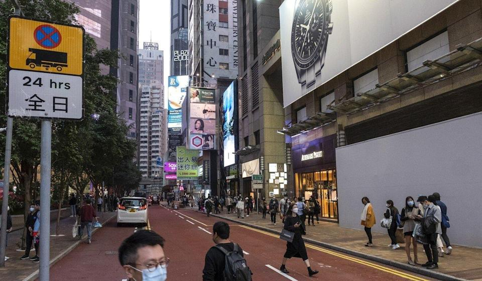 A general view of Russell Street in Causeway Bay, once the world's most expensive shopping street. Photo: Sun Yeung