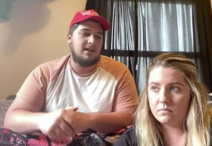Elizabeth Linscott and her husband Isaiah are on house arrest after Elizabeth tested positive for COVID-19 and decided not to sign documents agreeing to self-quarantine. (WAVE3)
