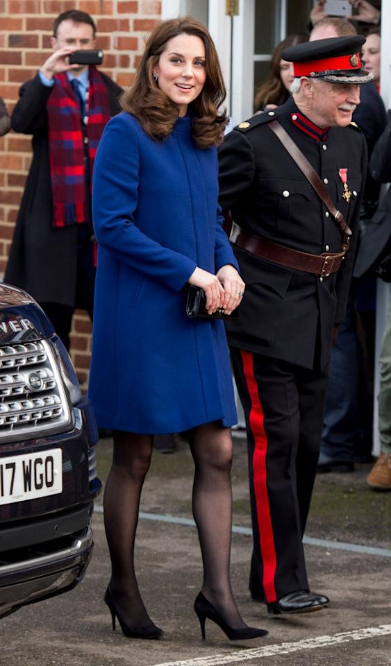 <p><strong>When: Feb. 7, 2018</strong><br />Simply gorgeous — we can't wait to see what the Duchess will wear next! <em>(Photo: Getty)</em> </p>