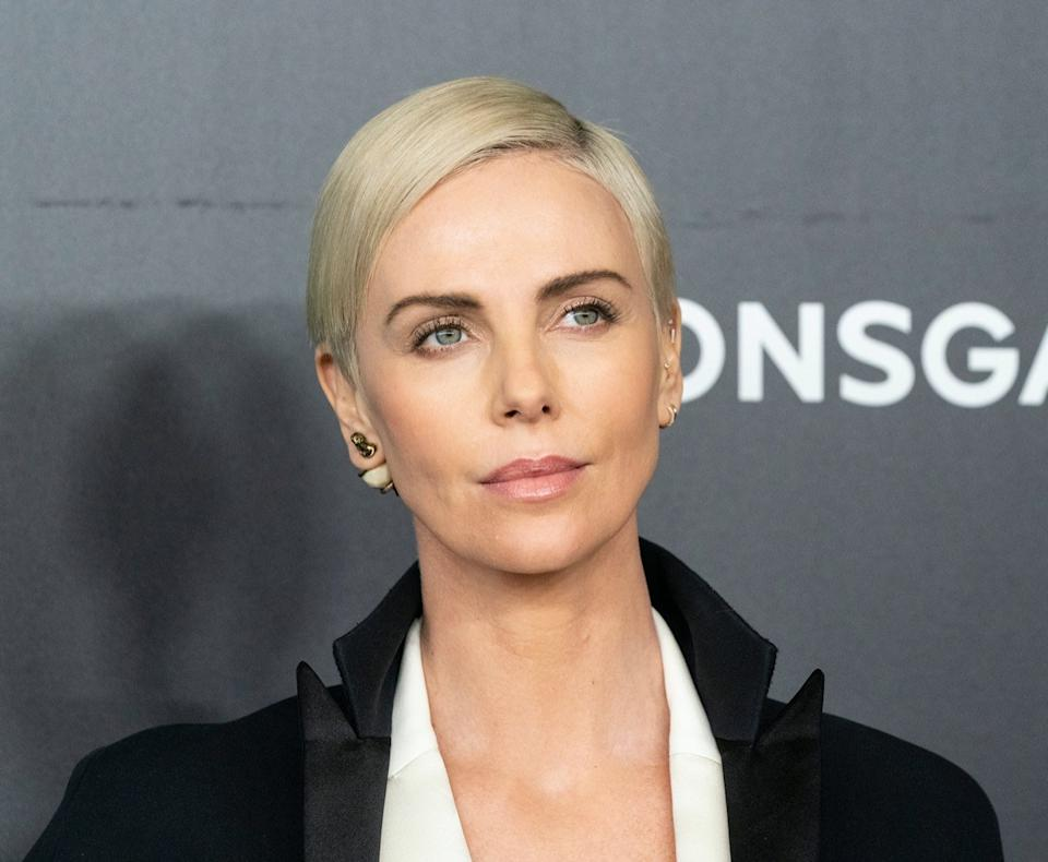 Charlize Theron wears black jacket at a special screening of 'Bombshell' in 2019
