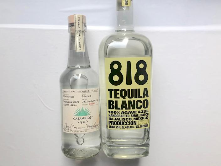 Casamigos and 818 tequila blanco
