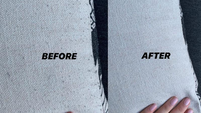 Aldi before and after lint remover photos