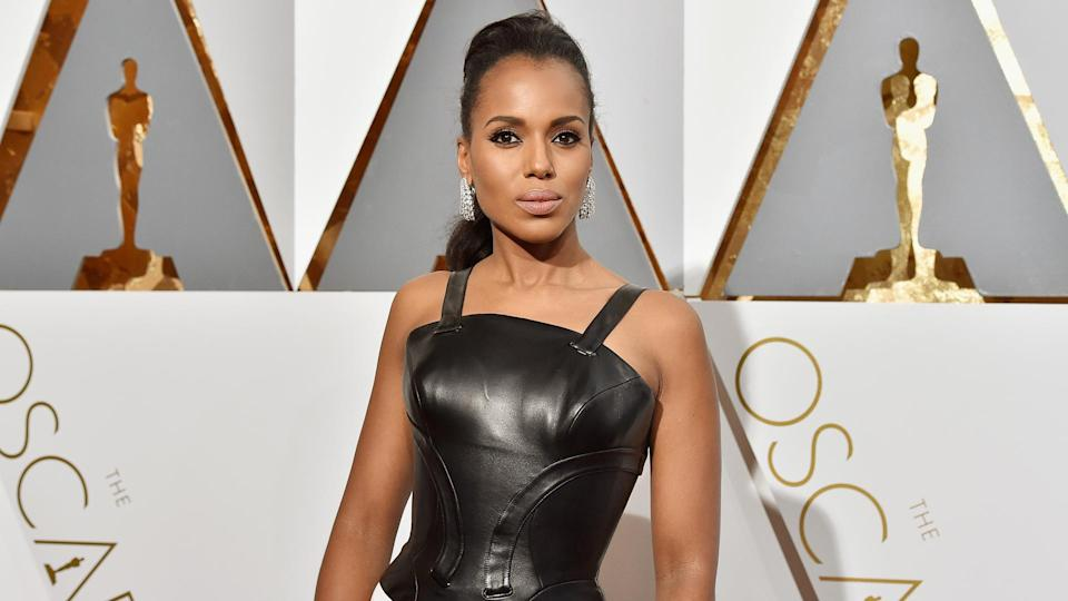 HOLLYWOOD, CA - FEBRUARY 28:  Actress Kerry Washington attends the 88th Annual Academy Awards at Hollywood & Highland Center on February 28, 2016 in Hollywood, California.