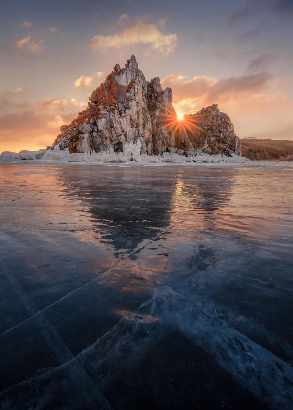<p>Even if you're not a fan of the cold, Lake Baikal should be on your list of places to visit if you're in Russia for an extended period of time. Found in the south-east of the country, it is the largest freshwater lake in the world. Shamanka Rock is one of the most popular place for travellers in the area during the summer, or visit during the winter for seal-spotting and sports on the frozen surfaces.<em>[Photo: Getty]</em> </p>