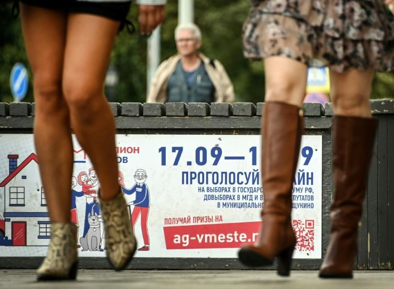 The run up to the State Duma ballot has been marred by a sweep of dissenting voices and pressure on independent media (AFP/Alexander NEMENOV)