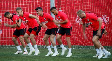 Soccer Football - World Cup - Poland Training - Poland Training Camp, Sochi, Russia - June 21, 2018 General view during training REUTERS/Francois Lenoir