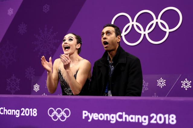 <p>Kaetlyn Osmond of Canada reacts after competing during the Ladies Single Skating Free Skating on day fourteen of the PyeongChang 2018 Winter Olympic Games at Gangneung Ice Arena on February 23, 2018 in Gangneung, South Korea. (Photo by Maddie Meyer/Getty Images) </p>