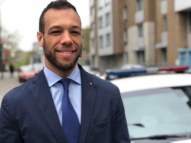 Advocate Balarama Holness will be running for Montreal mayor under his new party, Mouvement Montreal. (Kate McKenna/CBC - image credit)