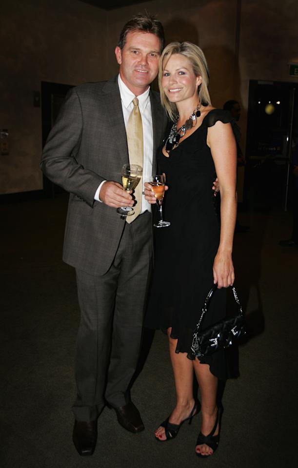AUCKLAND, NEW ZEALAND - AUGUST 01:  Martin Crowe and Loraine Downes arrive at the Air New Zealand Screen Awards at Sky City Theatre on August 01, 2007 in Auckland, New Zealand. The awards are regarded as the premier film and television industry awards in New Zealand.  (Photo by Sandra Mu/Getty Images)