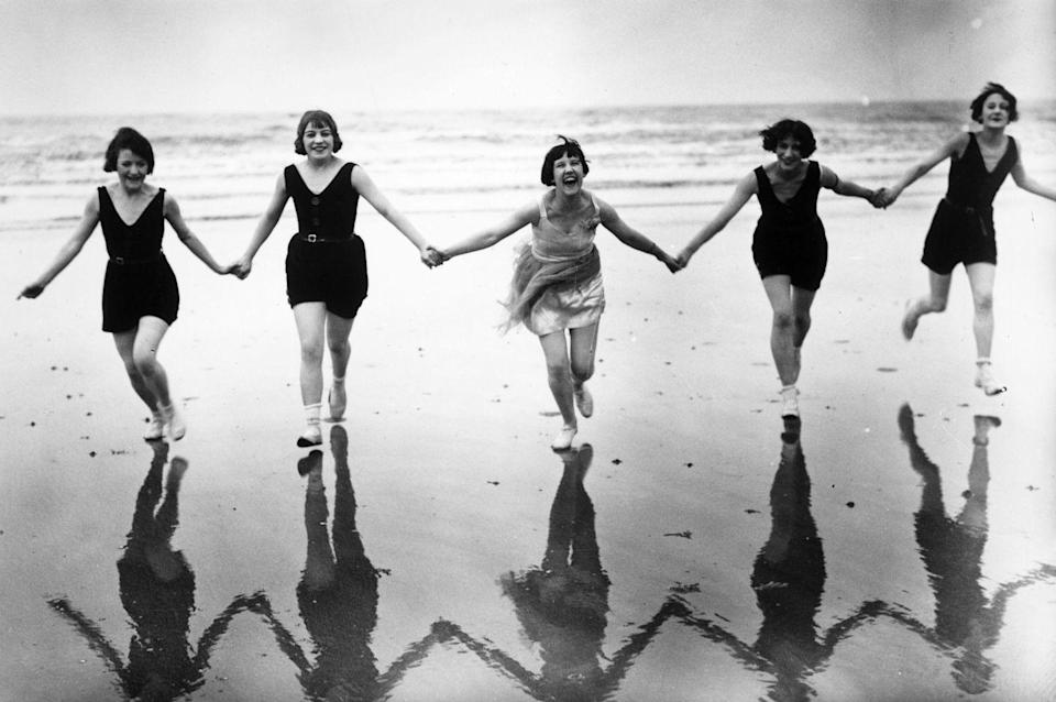 <p>I'm not sure who these five women are, but they appear to be conquering the world. Note to self, be like them.</p>