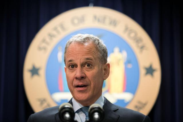 New York Attorney General Eric Schneiderman speaks during a press conference at the office of the New York attorney general, Sept. 13, 2016, in New York City. (Photo: Drew Angerer/Getty Images)