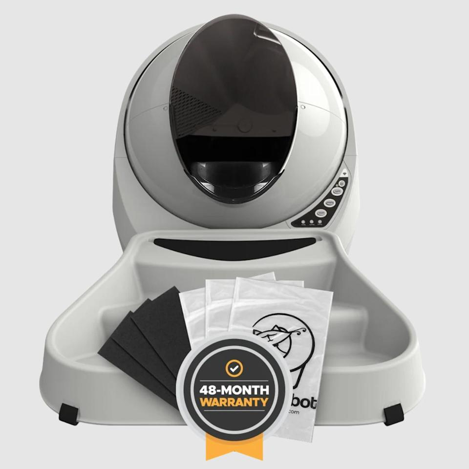 "<p>Give the gift of never scooping cat litter again with this robotic litter box. </p> <p><strong>Buy it!</strong> Litter-Robot 3 Connect Essentials Bundle, $628.99; <a href=""https://www.litter-robot.com/litter-robot-3-connect-essentials-bundle.html/"" rel=""nofollow noopener"" target=""_blank"" data-ylk=""slk:Litter-Robot.com"" class=""link rapid-noclick-resp"">Litter-Robot.com</a></p>"