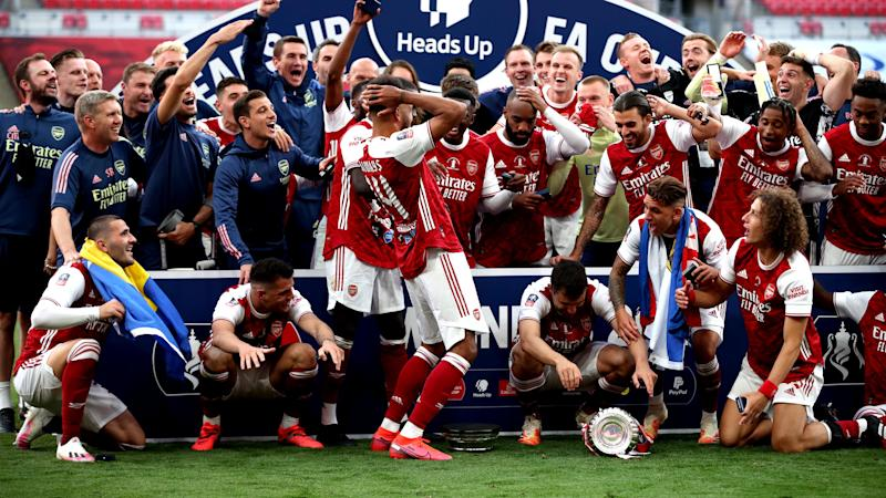 Prince William makes light of Aubameyang trophy fail as Arsenal claim FA Cup
