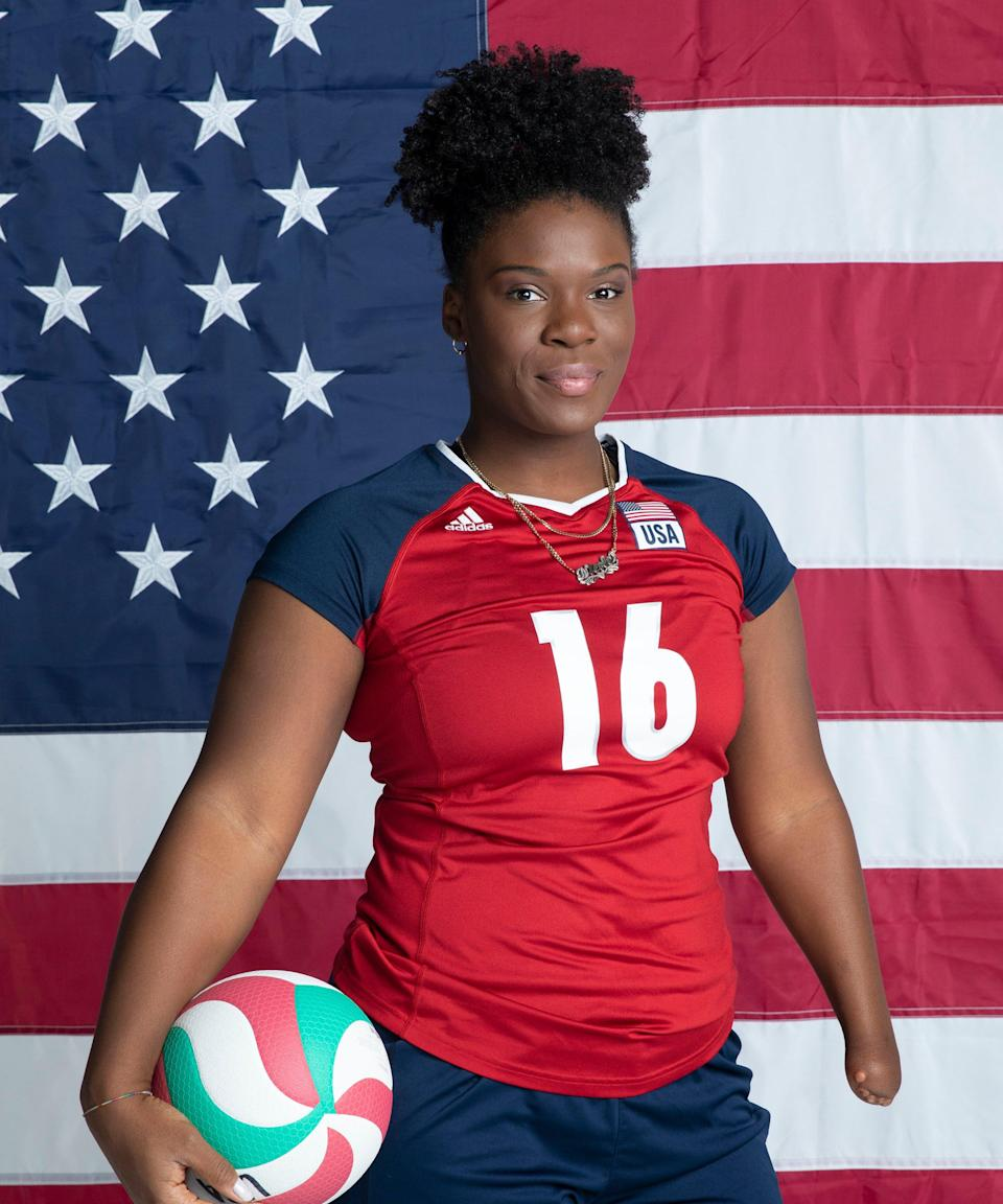 """<strong><h2>Nicky Nieves </h2>Sport: </strong>Sitting Volleyball<br><strong>Instagram:</strong> <a href=""""https://www.instagram.com/nicolina_cruzzz/?hl=en"""" rel=""""nofollow noopener"""" target=""""_blank"""" data-ylk=""""slk:@nicolina_cruzzz"""" class=""""link rapid-noclick-resp"""">@nicolina_cruzzz</a><br> <br>After bringing home a gold medal with her team in <a href=""""https://www.refinery29.com/en-us/2016/08/115374/rio-olympics-2016-athlete-diet"""" rel=""""nofollow noopener"""" target=""""_blank"""" data-ylk=""""slk:Rio de Janeiro in 2016"""" class=""""link rapid-noclick-resp"""">Rio de Janeiro in 2016</a>, the middle blocker, who grew up in Florida, says she's ready to take on Tokyo at full force. <br><br><strong>What's your favorite workout?</strong> <br>""""Anything involving deadlifts or squats are my favorites,"""" Nieves says. <br><br><strong>What would you be doing if you were not an athlete?</strong> <br>""""I would do more with my nonprofit, <a href=""""https://www.limitlesspeopleinc.org/"""" rel=""""nofollow noopener"""" target=""""_blank"""" data-ylk=""""slk:Limitless People, Inc."""" class=""""link rapid-noclick-resp"""">Limitless People, Inc.</a>, she says of the organization, which brings both sitting and standing volleyball to folks without seeing money, race, physical ability, or gender as barriers,"""" Nieves says. """"I would also start my grad program earlier — it's kind of tough right now with the Games — so I could become a licensed mental health counselor and open my own clinic."""" <br><br><strong>How do you feel to be finally competing after the past year?</strong><br>Some of her relatives were directly impacted by COVID-19, and Nieves has previously been open about how the <a href=""""https://www.refinery29.com/en-us/2020/11/10153670/covid-anxiety-real-women-tips"""" rel=""""nofollow noopener"""" target=""""_blank"""" data-ylk=""""slk:pandemic has impacted her mental health"""" class=""""link rapid-noclick-resp"""">pandemic has impacted her mental health</a>. She went through depression after the postponement of the 2020 Paralympics, according to <a href=""""https://www"""