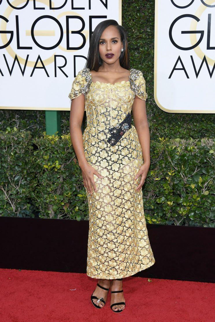 Kerry Washington in Dolce & Gabbana. (Photo: Getty Images)