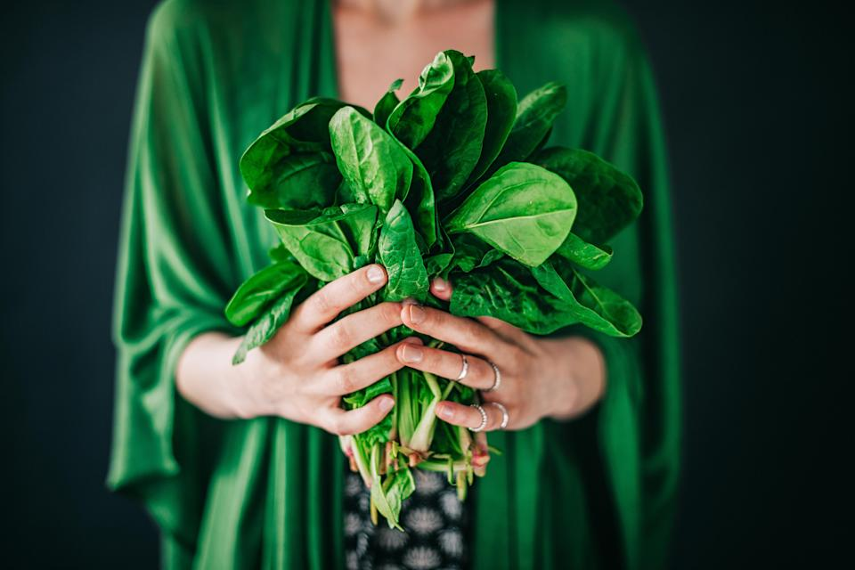 Spinach is a great source of fibre [Photo: Getty]