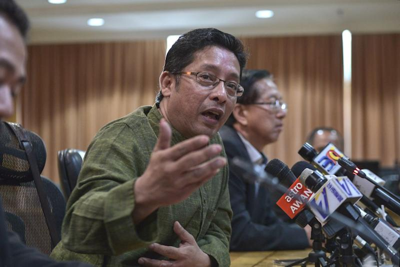 Eddin Khoo speaks during a press conference at the Education Ministry in Putrajaya October 4, 2019. — Picture by Shafwan Zaidon