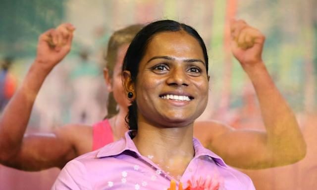<p>Chand is hitting all sorts of historic marks in this year's Olympics - not only is she the first Indian woman to race the 100-meter sprint since 1980, but she also defeated IOC hormone therapy regulations that many are calling discriminatory. Chand was previously barred from the 2014 Commonwealth Games. (AP) </p>