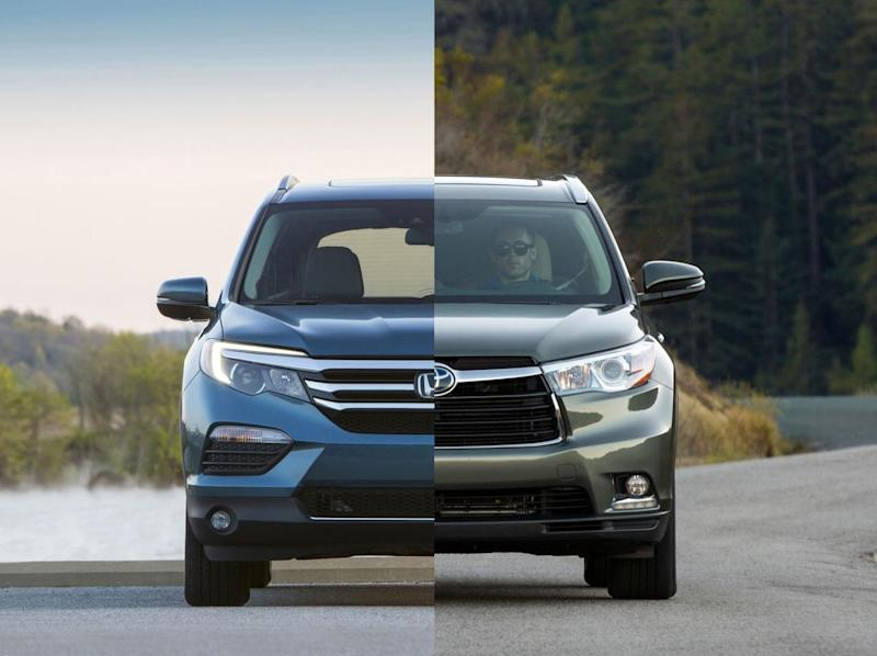 What are they? 2016 Honda Pilot and 2016 Toyota Highlander are third ...