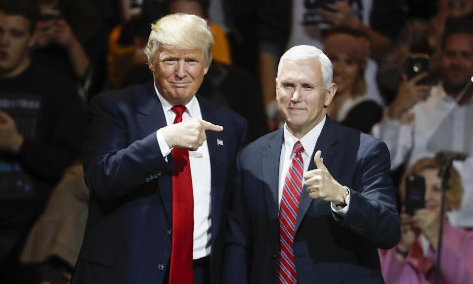 Trump and Pence pictured in 2016