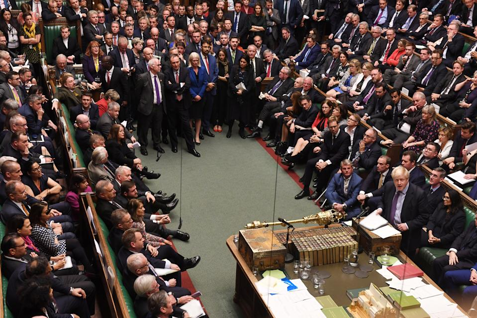 Britain's Prime Minister Boris Johnson speaks at the House of Commons in London, Britain October 22, 2019. ©UK Parliament/Jessica Taylor/Handout via REUTERS ATTENTION EDITORS - THIS IMAGE WAS PROVIDED BY A THIRD PARTY