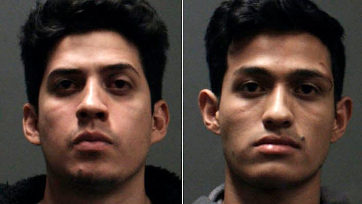 Chino police arrested two brothers, Rony Castaneda Ramirez, left, and Josue Castaneda Ramirez, who are accused in a fatal beating at a wedding party.