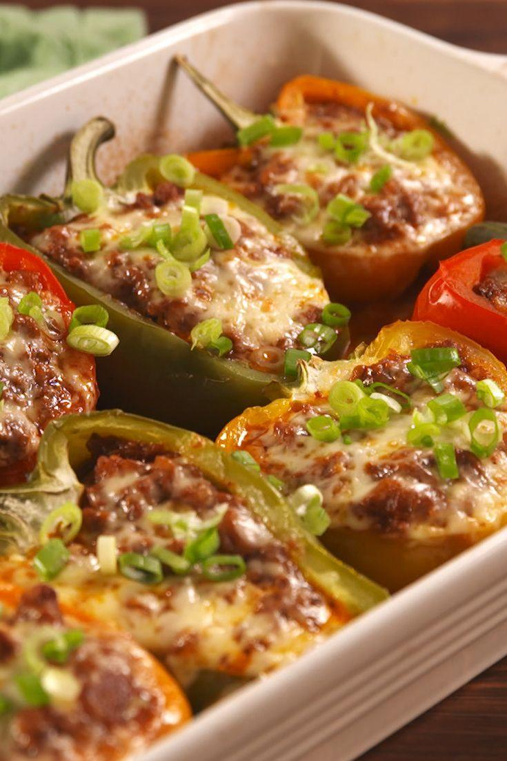 """<p>These delicious, low-carb sloppy joes may just beat the original.</p><p>Get the recipe from <a href=""""https://www.delish.com/cooking/recipe-ideas/recipes/a54668/sloppy-joe-stuffed-peppers-recipe/"""" rel=""""nofollow noopener"""" target=""""_blank"""" data-ylk=""""slk:Delish"""" class=""""link rapid-noclick-resp"""">Delish</a>.</p>"""