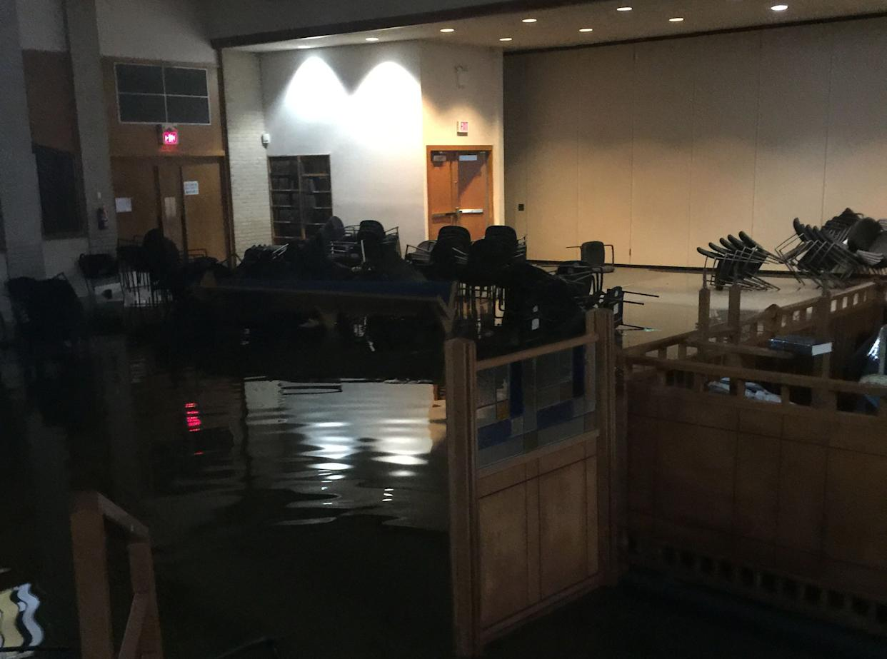 The United Orthodox Synagogues of Houston took in more than5 feet of water in some areas during Hurricane Harvey. (Photo: Robert Levy)