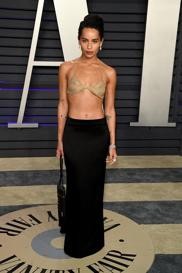 <p>Wearing Saint Laurent. <em>[Photo: Getty]</em> </p>