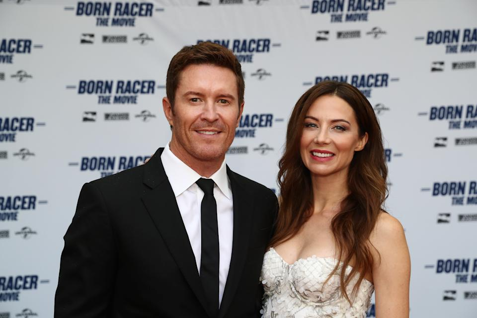 """<em>Scott Dixon and his wife, Emma, attending the premiere of the """"Born Racer"""" documentary about his 2107 season (Chris Jones/IndyCar).</em>"""
