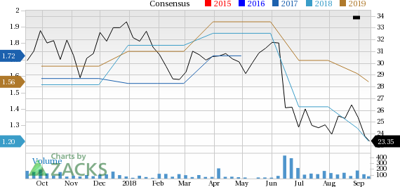 Culp (CULP) has witnessed a significant price decline in the past four weeks, and is seeing negative earnings estimate revisions as well.