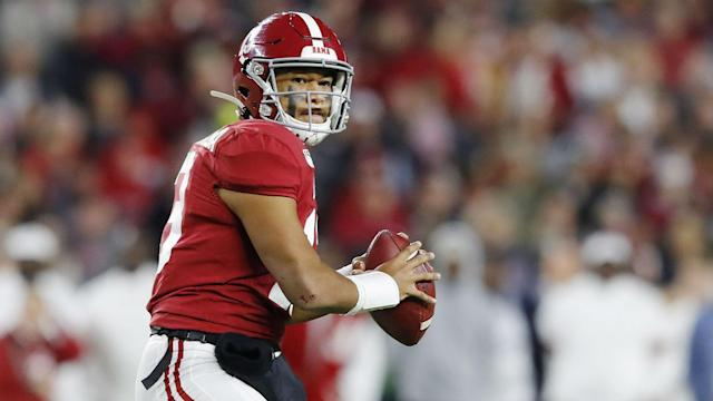 Tua Tagovailoa is expected to be a top pick in the 2020 draft, but suffered a hip injury playing for Alabama on Saturday.