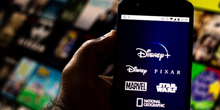 Disney Plus app and library
