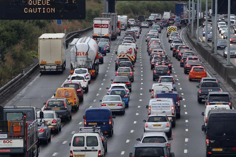 Traffic on the M25 near Colnbrook: PA Archive/PA Images