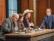 """<p>Even though everyone is on the same set all morning. It isn't <a href=""""https://tv.avclub.com/what-it-s-like-to-compete-in-the-chopped-kitchen-1798277081"""" rel=""""nofollow noopener"""" target=""""_blank"""" data-ylk=""""slk:until the first round"""" class=""""link rapid-noclick-resp"""">until the first round </a>is completed that the contestants are introduced to the judges. Hey, they've gotta remain impartial! </p>"""