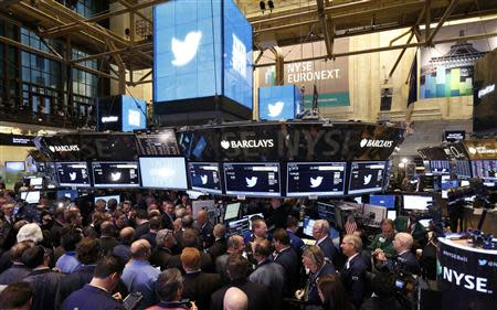Trading begins on the Twitter Inc. IPO on the floor of the New York Stock Exchange, in New York