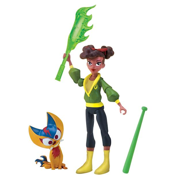 <p>Meet the all-new April in the all-new <em>TMNT </em>cartoon: This artculated action figure comes with a pair of weapons, plus April's own mutant sidekick. (Photo: Playmates) </p>
