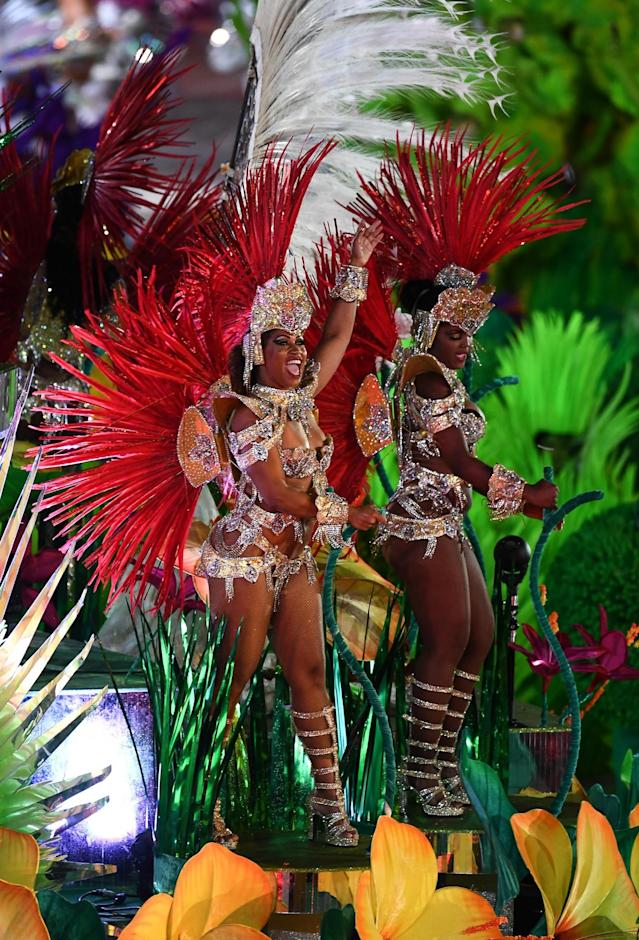<p>Performers during the closing ceremony of the 2016 Rio Summer Olympic Games at the Maracanã Stadium in Rio de Janeiro, Brazil. (Photo By Ramsey Cardy/Sportsfile via Getty Images) </p>