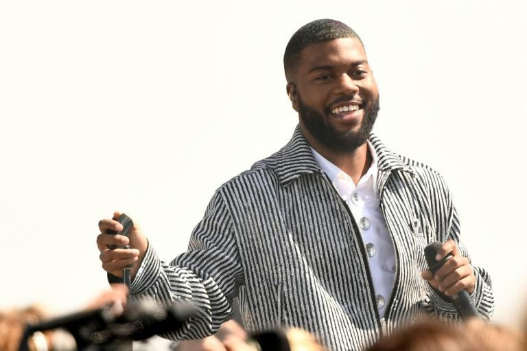 """As the ship came back to earth, Khalid took to the stage to debut his newest song, """"New Normal,"""" a wink towards future space tourism"""