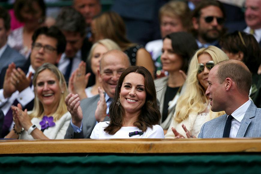 The Duke and Duchess of Cambridge weren't about to miss the Wimbledon men's finals on Sunday.