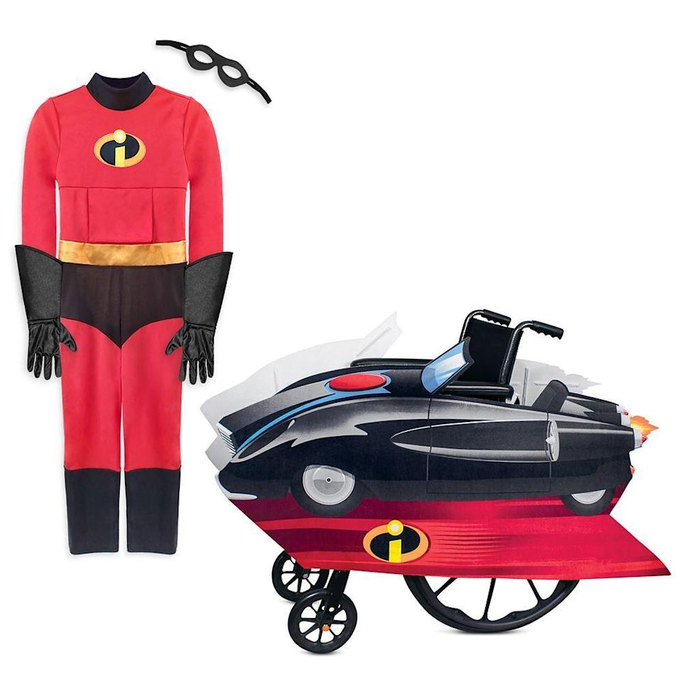 """<p>Incredibles fans can take a ride in their own Incredibmobile. The Incredibles costume is made from stretchy material that opens at the back, and also has a flap in the front for tube access. The costume and wheelchair cover can be purchased separately. The set is expected to ship in early September.</p><p><a class=""""link rapid-noclick-resp"""" href=""""https://go.redirectingat.com?id=74968X1596630&url=https%3A%2F%2Fwww.shopdisney.com%2Fthe-incredibles-adaptive-collection-for-kids-pskidsadptvbndlincrdble081020.html&sref=https%3A%2F%2Fwww.goodhousekeeping.com%2Fholidays%2Fhalloween-ideas%2Fg33632924%2Fadaptive-wheelchair-halloween-costumes%2F"""" rel=""""nofollow noopener"""" target=""""_blank"""" data-ylk=""""slk:SHOP NOW"""">SHOP NOW</a></p>"""
