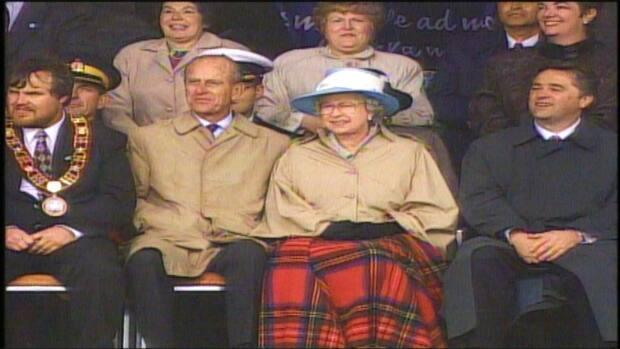 Prince Philip and Queen Elizabeth during a visit to Newfoundland and Labrador on the 500th anniversary of John Cabot's arrival.  (CBC - image credit)
