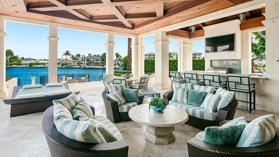 The outdoor lounge - Credit: Photo: Courtesy of The Carroll Group